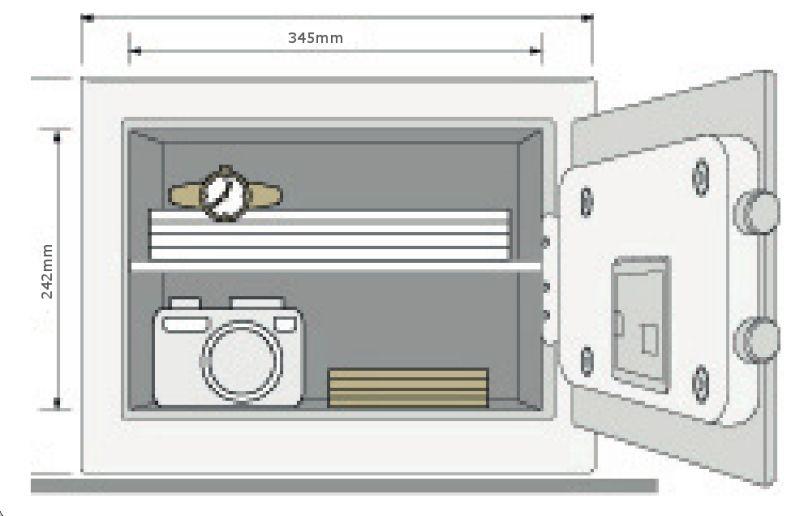 domino tresor home ysb 250 eb1 wand safe geldschrank. Black Bedroom Furniture Sets. Home Design Ideas