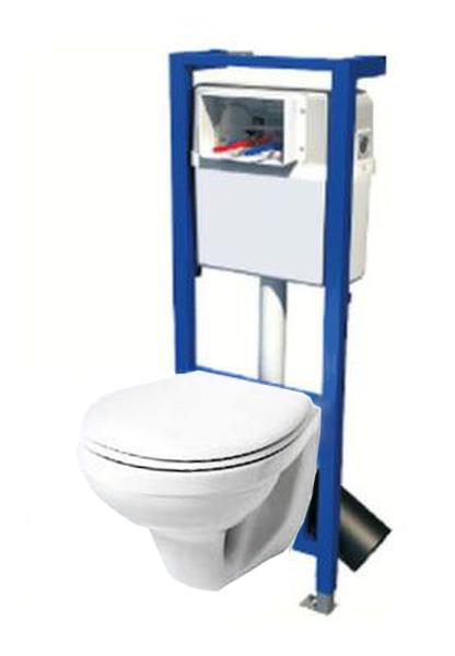domino blue vorwandelement wc set idol h nge wc wand wc ebay. Black Bedroom Furniture Sets. Home Design Ideas
